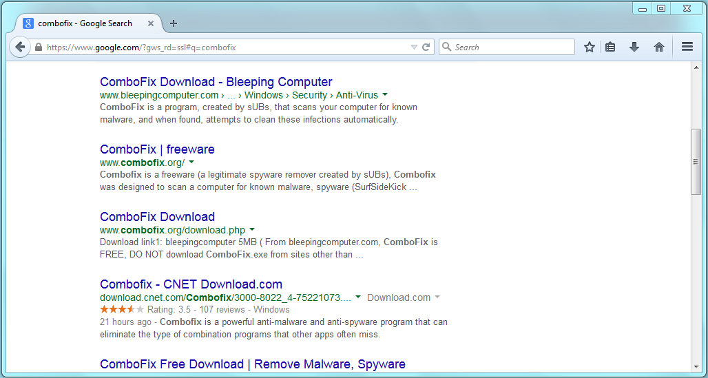 software combofix free download