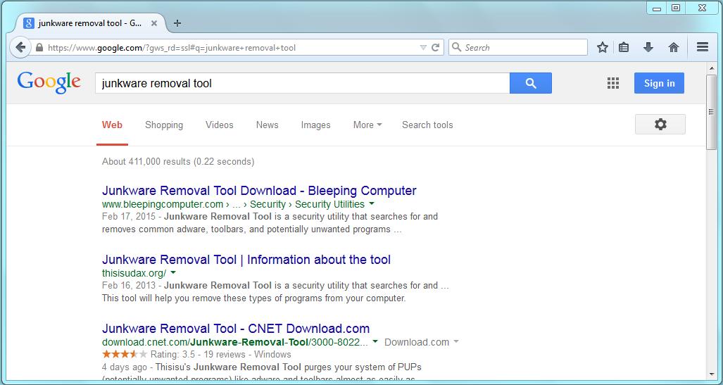 Junkware Removal Tool | CyberHelp.us